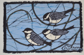 chickadee 2-2013 batik © Toni Spencer