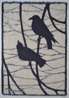 crow4-2013 batik © Toni Spencer