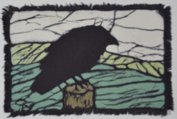 crow fields batik © Toni Spencer