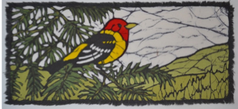 Tanager 1-2013 batik © Toni Spencer