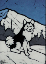 Huskey batik &copy Toni Spencer