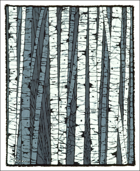 Birch Center batik © Toni Spencer