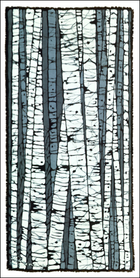 Birch Left batik © Toni Spencer