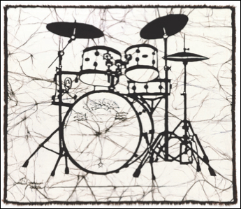 Drums batik                                                              © Toni Spencer
