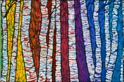 Rainbow Birch batik                                                                             © Toni Spencer