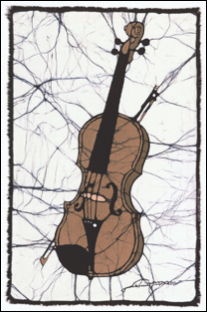 Violin batik                                                                             © Toni Spencer