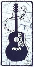 Acoustic Guitar batik &copy Toni Spencer