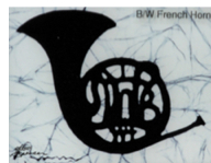 Black French Horn batik &copy Toni Spencer