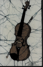 Brown Violin batik &copy Toni Spencer