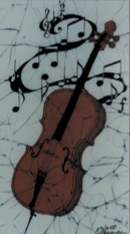 Cello batik                                          &copy Toni Spencer