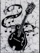 Mandolin batik                                         &copy Toni Spencer