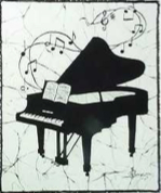 Piano batik &copy Toni Spencer