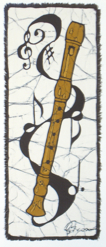 Recorder batik                                          &copy Toni Spencer