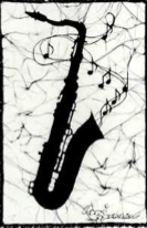 Tenor Sax batik &copy Toni Spencer