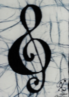 Treble Clef batik &copy Toni Spencer